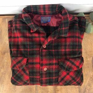 Vintage Pendleton Wool Flannel Shirt Men's Large